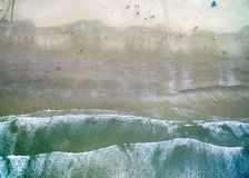 Aerial View of Waves in a Beach.  Stock Images