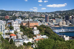 Aerial view of Wellington, New Zealand Stock Images