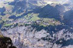 Aerial view of Wengen Royalty Free Stock Images