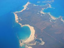 Aerial view on West Coast of Australia Stock Photo