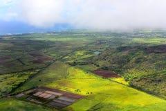 Aerial view of west coast of Kauai Island Stock Images
