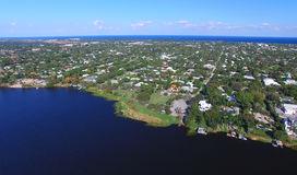 Aerial view of West Palm Beach, Florida.  royalty free stock photos
