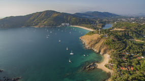 Aerial view of west of phuket island beach in andaman southern o Stock Photography