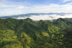 Aerial view of western Costa Rica Royalty Free Stock Photo