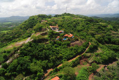 Aerial view of western Costa Rica Royalty Free Stock Images