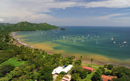 Aerial view of western Costa Rica. Aerial view of resorts and real estate in western Costa Rica Royalty Free Stock Photo