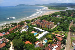 Aerial view of western Costa Rica resorts Royalty Free Stock Image