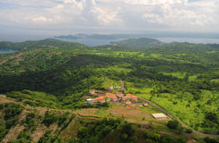 Aerial view of western Costa Rica Royalty Free Stock Image