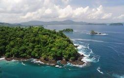 Aerial view of western Costa Rica. Seashore Stock Image