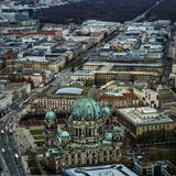 Berliner Dom from above royalty free stock images