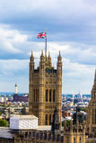 Aerial view of Westminster, London. Royalty Free Stock Photo