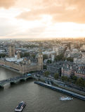 Aerial view of Westminster palace Stock Photos
