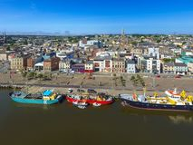 Aerial view. Wexford town. co Wexford. Ireland. Aerial view of Wexford town and harbour. co Wexford. Ireland Royalty Free Stock Image