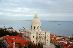 Aerial view of the White Church of Santa Engracia Royalty Free Stock Photography