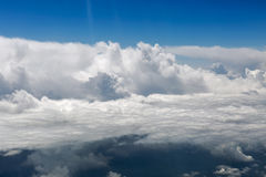 Aerial view of white clouds Royalty Free Stock Images