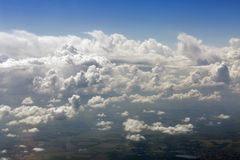 Aerial view of white clouds Royalty Free Stock Image