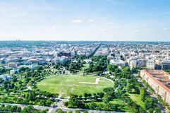 Aerial view of the White House and National Mall in Washington DC, USA royalty free stock photos