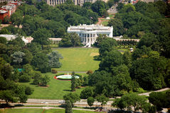 Aerial view of The White house in Washington DC Stock Images