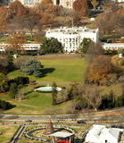 Aerial view of The White House. The White House from the Washington Memorial with the preparations for the National Tree lighting under way Royalty Free Stock Photos