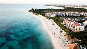Aerial View of White Sand Beach Royalty Free Stock Photography