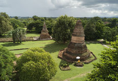 Aerial view Wiang Tha Kan historic temple at Lumphun in Thailand. Stock Photography