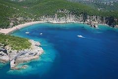 Aerial view of the wild beach Kraljeva, Montenegro Stock Images