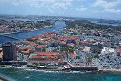 Aerial view of Willemstad Stock Photography