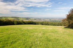 Aerial view of Winchcombe from Belas Nap Stock Image