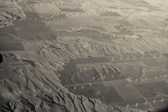 Aerial View of Wind Farm Stock Images