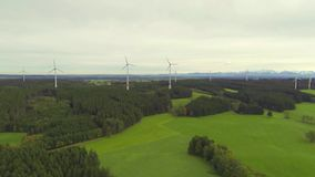 Aerial view of wind farm Royalty Free Stock Photo