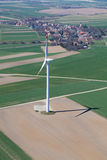 Aerial view of wind turbine Stock Images