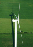 Aerial view of wind turbine Royalty Free Stock Images