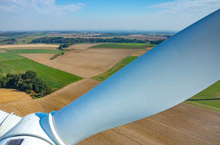 Aerial view on the windmills Stock Photo