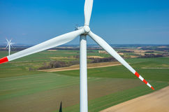 Aerial view on the windmills Stock Image