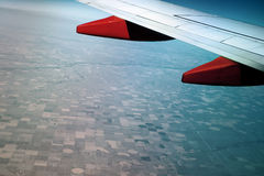 Aerial view from the window of an airplane Royalty Free Stock Photography
