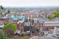 Aerial view of Windsor city, UK. Aerial view of Windsor city, England Royalty Free Stock Photo
