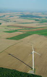 Aerial view of a windturbine Royalty Free Stock Image