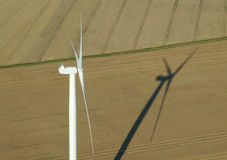 Aerial view of windturbine Royalty Free Stock Image