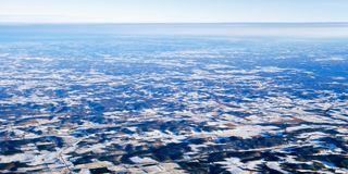 Aerial view. Aerial winter view of a Minnesota landscape royalty free stock images