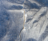 Aerial view of winter mountain road. Royalty Free Stock Photo
