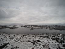 Aerial view winter in Norway Royalty Free Stock Photography