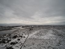 Aerial view winter in Norway stock photography