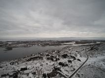 Aerial view winter in Norway Royalty Free Stock Images