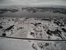 Aerial view winter in Norway Royalty Free Stock Photos