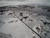 Aerial view winter in Norway Royalty Free Stock Image