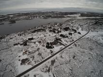 Aerial view winter in Norway stock photos