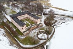 Tullgarn palace aerial view Stock Photography