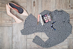 Aerial view of woman's fashion with accessories Stock Images