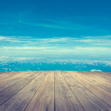 Aerial view from wooden platform Royalty Free Stock Photography