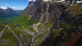 World famous mountain road Trollstigen stock video